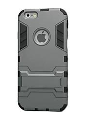 Pour iPhone 8 iPhone 8 Plus iPhone 6 iPhone 6 Plus Etuis coque Antichoc Avec Support Coque Arrière Coque Armure Dur PUT pour Apple iPhone