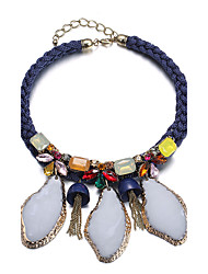 Necklace Statement Necklaces Jewelry Daily / Casual Fashion Alloy / Resin / Fabric Silver / Blue 1pc Gift