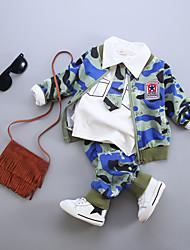 Baby Casual/Daily Print Clothing Set,Cotton Fall-Black / Blue / Orange