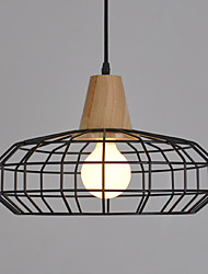 Single Head Industrial Europian Style Wooden with Metal Pendant Lamp for the Decorate Indoor Pendant Light