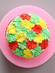 Четыре листа клевера шоколада силиконовые формы, формы торта, мыло прессформы, инструменты украшения выпекание