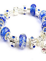 Blue Fine Styly Beads Strand Bracelet with Beautiful Pendant Charm Bracelet