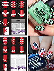 21 Autocollant d'art de clou Abstrait Adorable Punk Maquillage cosmétique Nail Art Design