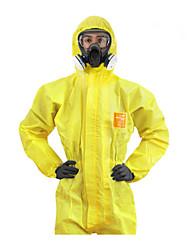 3000 Tipo de guerra química conjoined se adapte às roupas de proteção bioquímica contra sulfato de mercúrio alcalino