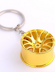 Metal Car Wheel Key Pendant Metal Gifts Key Ring Chain