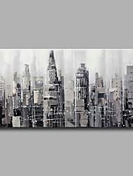 Peint à la main Abstrait Modern / Classique,Un Panneau Toile Peinture à l'huile Hang-peint