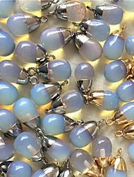 bijoux bricolage pendentif en alliage de style en pierre bleue