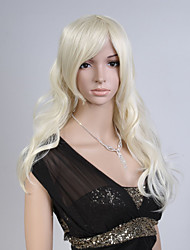 Capless Blonde Color Long High Quality Natural Curly Hair Synthetic Wig