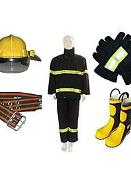 пожарников огонь защитной одежды огнезащитной одежды пожаротушения одежда утолщенной