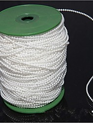 100M Cotton Line Pearl Rope Wedding Bride Holding Flowers Decorative Bead Pearl White