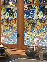 Стикер на окна-Деревья / листья-Деревня