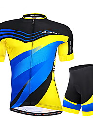 Nuckily Camisa com Shorts para Ciclismo Homens Manga Curta Moto Camisa/Roupas Para Esporte Shorts Conjuntos de RoupasResistente Raios