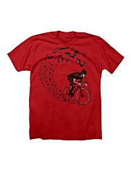 Sportif Vélo/Cyclisme Hauts/Tops Homme Manches courtes Respirable Térylène Sport Blanc S / M / L / XL / XXL / XXXL Cyclisme/VéloPrintemps