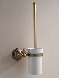 Porte Brosse de Toilette / Gadget de Salle de Bain / Laiton Poli / Fixation Murale /5.1*2.36*14.96 inch /Laiton /Antique /13cm 6cm 0.65KG