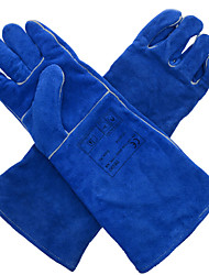 WELADS® 10-2054 Blue Long Sleeved Tube Section Welding Welding Lengthen Welding Gloves