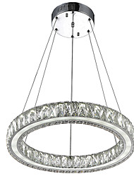 Crystal Pendant Light Fixtures for Kitchen Living Room Dining Room with Single Ring D40CM 27W CE FCC ROHS
