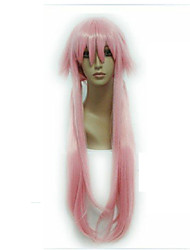 Popular Pink Synthetic Hair Cosplay Wig Long Straight Animated Wigs Cartoon Wigs Party Wigs Full Wig