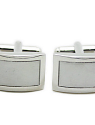 Set of 2 Silver Square Cufflinks for Men Gift Jewelry