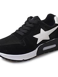 Homme-Extérieure / Décontracté / Sport-Noir / Gris-Talon Plat-Confort-Sneakers-Similicuir