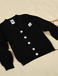 Girl's Casual/Daily Solid Sweater & Cardigan,Cotton Spring / Fall Black / Blue / Brown / Pink / Red / White / Gray