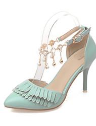 Mujer-Tacón Stiletto-Tacones / D'Orsay y Dos Piezas / Puntiagudos / Tira en el TobilloOficina y Trabajo / Vestido / Fiesta y Noche-