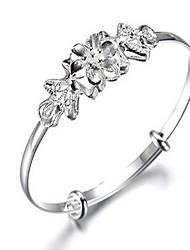 Bracelet Bracelets Rigides Alliage Forme Ronde Mode / Bohemia style Quotidien / Décontracté Bijoux Cadeau Café / Argent,1pc