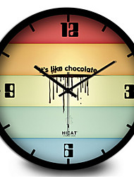 Study The Living Room Furniture Are Chocolate Metal Decorative Wall Clock