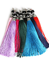 Beadia 2Pcs Fashion Polyester Tassel Charm For Bag Jewelry Making Mob Straps Keychain