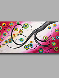 """Stretched (Ready to hang) Hand-Painted Oil Painting 40""""x20"""" Canvas Wall Art Modern Abstract Trees Purple Pink"""