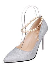 женская обувь из кожзаменителя падения пятки / пальца ноги пятки заостренный офис&карьера / партия&вечер / вскользь стилет