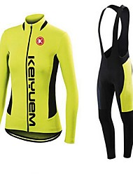 KEIYUEM®Spring/Summer/Autumn Long Sleeve Cycling Jersey+long Bib Tights Ropa Ciclismo Cycling Clothing Suits #L47