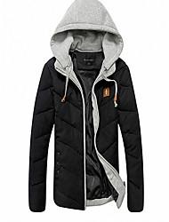 Men's Regular Padded Coat,Cotton Solid Short Sleeve
