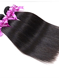 Indian Virgin Hair Weft Silk Straight 6A Unprocessed Brazilian Silk Straight Hair Extension Human Hair Weave Bundles