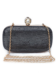 L.WEST Women's The Elegant Metallic Gauze Flash Powder Evening Bag