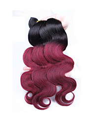 """3pcs / lot 10 """"-24"""" cabello humano color de cabello virgen onda del cuerpo 1b / 99 / j indio teje"""
