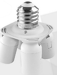 E27 to 4 E27 LED Bulb Base Socket Adapter
