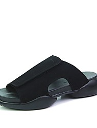 Men's Slippers & Flip-Flops Summer Flip Flops Suede Casual Flat Heel Others Black / White Walking