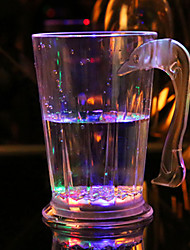 1PC Flashing Acrylic  Barware Lamp Colorful LED Cup Flash Beer Mug Drink Cup Cola Cup