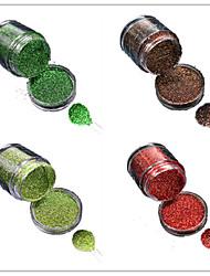 1 Bottle Nail DIY Beautiful Color Colorful Laser Glitter Powder Nail Beauty Decoration L05-08