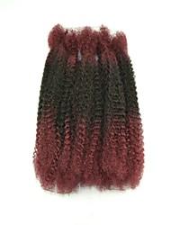 "18"" Ombre Color Afro Kinky Braid Kanekalon Fiber Braid Hair Extension"