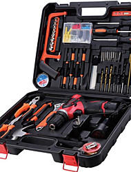 Multifunction Metal Toolbox Lithium Drill Tool Kit Home Hand Tools Electrical Maintenance Package