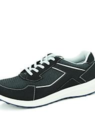 Da donna-Sneakers-Sportivo-Punta arrotondata-Piatto-Di pelle-Nero / Blu / Rosso