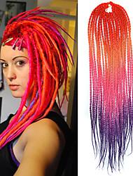 """alaranjado, amarelo, rosa roxo senegal dread locks macios 20"""" Kanekalon 2 fios torção 100g de cabelo tranças"""