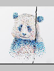 картина маслом современные абстрактные панда стены искусства картины ручной росписью холст с натянутой рамы готовы повесить