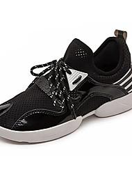 Non Customizable Women's Dance Shoes Dance Sneakers Fabric Flat Heel Black / Green / Pink / White