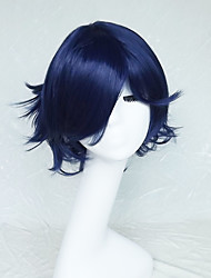 Cosplay Wig Colour Navy Blue Cartoon Characters Become Warped Wig 10 Inch