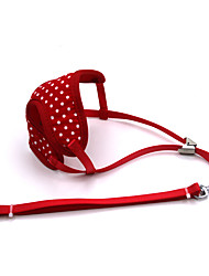 Dog Harness / Leash Adjustable/Retractable / Breathable / Running / Vest Red Mesh