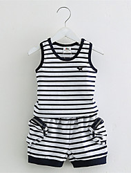 Po Boys Striped Suit New Korean Children'S Clothing Children Vest Short Pants