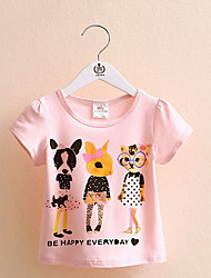 Girls Cartoon Short-Sleeved T-Shirt Bottoming Shirt Influx Of New Children'S Clothing Children'S Products