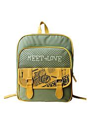 Flower Princess® Women Canvas Backpack Green-1302L002